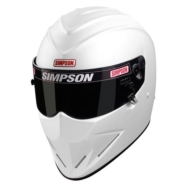Simpson Racing Helmets >> Simpson 6297581 Diamondback Fiberglass Racing Helmet White Xl Size