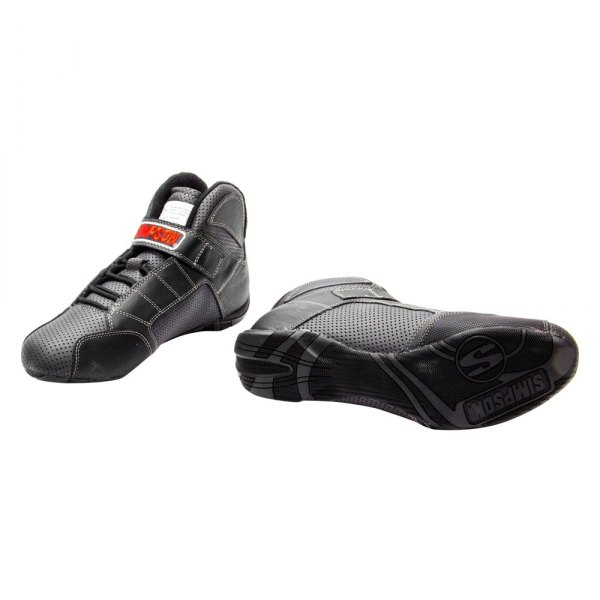 Simpson Racing Shoes >> Simpson Rl135k Red Line Series Racing Shoes 13 5 Size Gray With Black