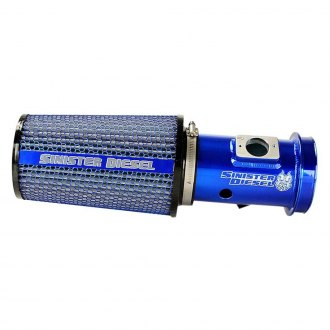 Sinister Diesel® - Aluminum Blue Cold Air Intake System with Blue Filter