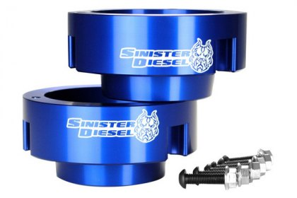 SD-9409LVL-BLU - Sinister Diesel® Front Leveling Coil Spring Spacers