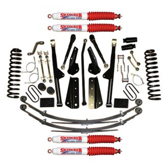 "Skyjacker® - 8"" x 6""-7.5"" Rock Ready™ 2 Series Front and Rear Suspension Lift Kit"