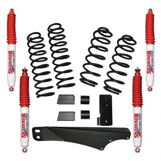 "Skyjacker® - 2"" x 2"" Rock Ready™ Coil Spring Front and Rear Suspension Lift Kit"