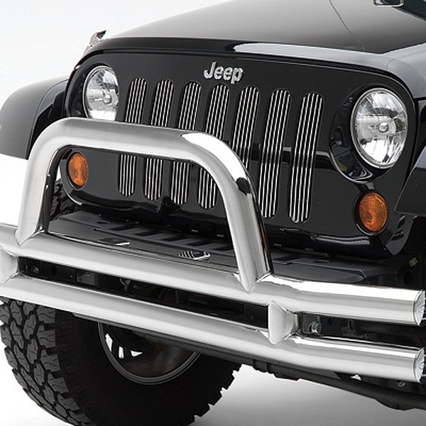Smittybilt® - Chrome Billet Grille Without Trim