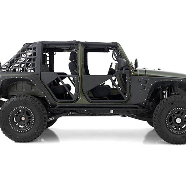 Smittybilt® - SRC Steel Front Tubular Doors  sc 1 st  CARiD.com & Smittybilt® - Jeep Wrangler 2007-2017 SRC Tubular Doors