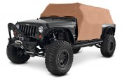 Smittybilt® - Water Resistant Gray Cab Cover With Door Flap
