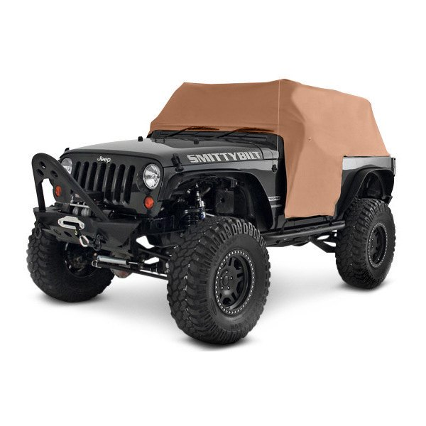 Image may not reflect your exact vehicle! Smittybilt® - Water Resistant Cab Cover with Door Flap