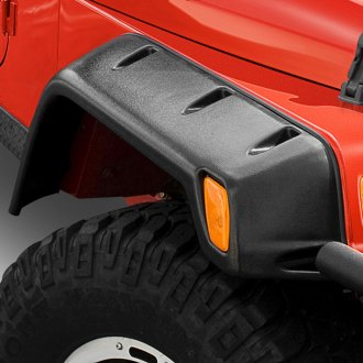 "Smittybilt® - 6"" Wide Textured Black Front and Rear Fender Flares Kit"