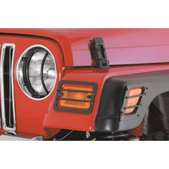 Smittybilt® - Black Euro Headlight Guards