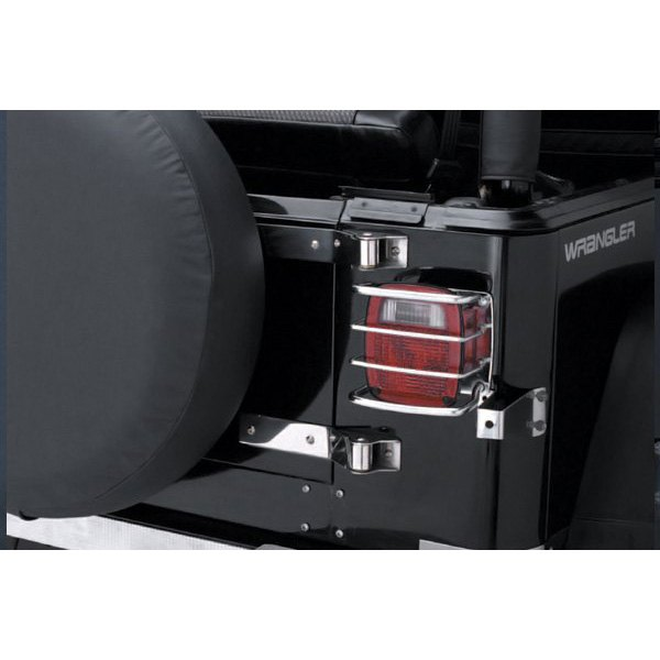 smittybilt jeep wrangler 1987 1995 euro tail light guards. Black Bedroom Furniture Sets. Home Design Ideas