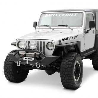 Smittybilt® - XRC Mid Width Black Front Winch HD Bumper with Hoop