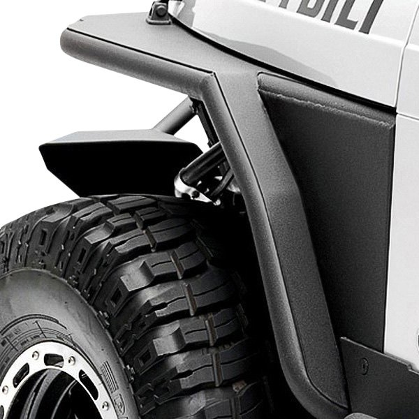 "Smittybilt® - XRC Tubular Textured Black Front Fenders with 3"" Flare"