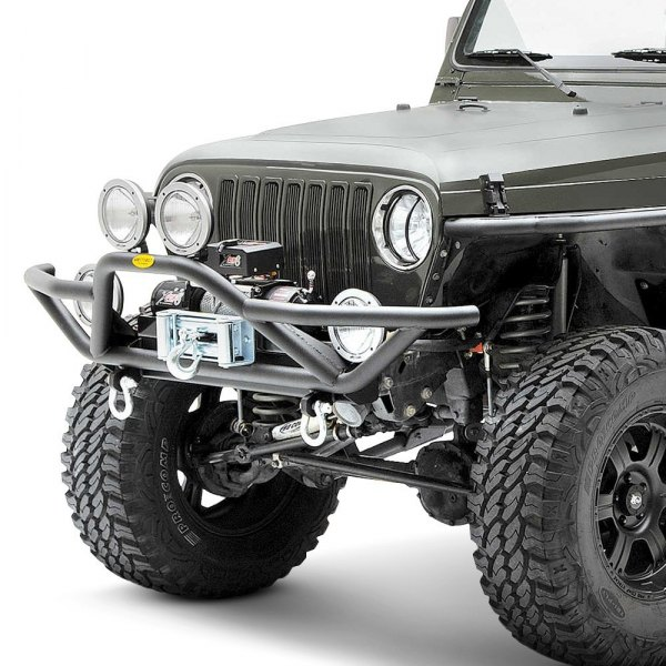 Smittybilt® - SRC Full Width Front Tubular Textured Black Bumper Image may not reflect your exact vehicle!