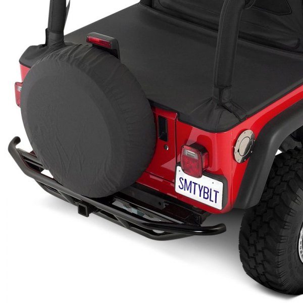 Smittybilt® - SRC Mid Width Rear Tubular Textured Black Bumper Image may not reflect your exact vehicle!