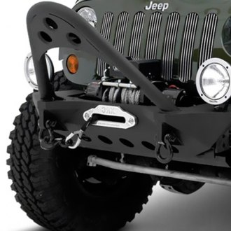 Smittybilt® - SRC Stubby Front HD Winch Bumper with Stinger