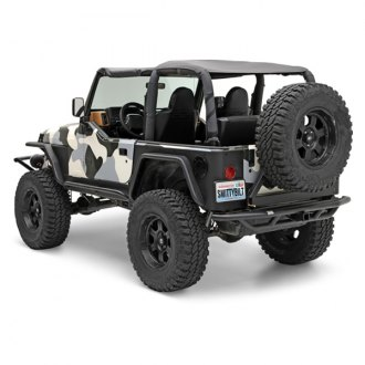 Smittybilt® - SRC Full Width Rear Pre-Runner Bumper with Hitch And Tire Carrier