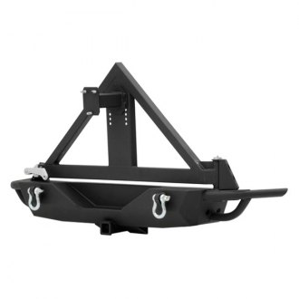 Smittybilt® - SRC Textured Black Bumper With Hitch and Tire Carrier