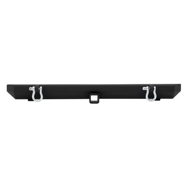 "Smittybilt® - SRC Classic Textured Black Bumper With Hitch, D-Rings, without Tire Carrier, with 2"" Receiver"