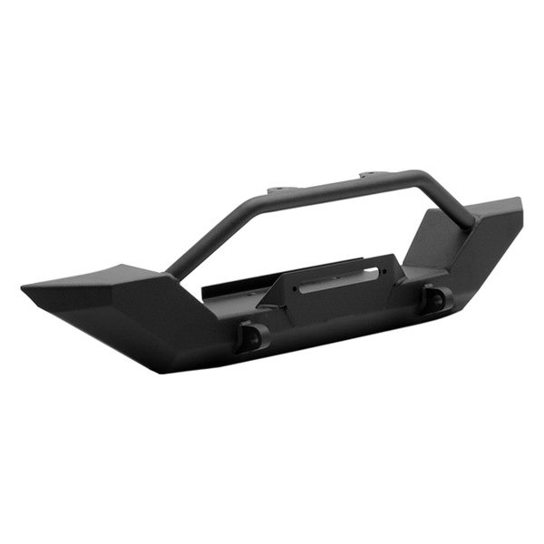 Smittybilt® - XRC Textured Black Bumper With Winch Plate