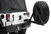 Smittybilt® - XRC Textured Black Bumper With Hitch and Tire Carrier