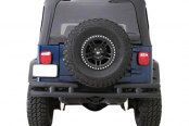 Smittybilt® - Black Double Tubular Bumper without Hitch