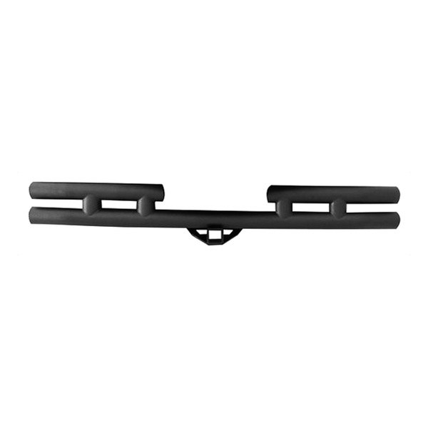 Smittybilt® - Stubby Rear Tubular Bumper with Hitch