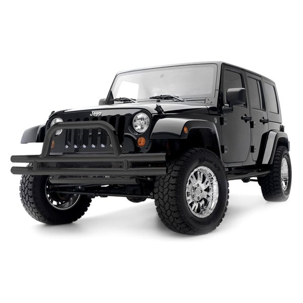 Smittybilt® - Black Tubular Bumper With Hoop