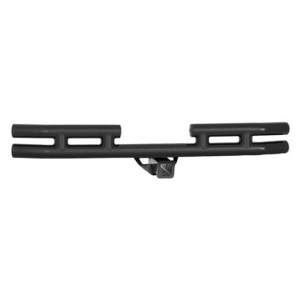 Smittybilt® - Black Tubular Rear Bumper with Hitch