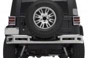 Smittybilt® - Polished Tubular Rear Bumper w/o Hitch