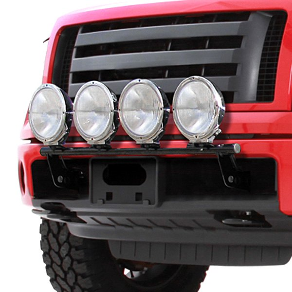 Smittybilt® - Street Series Black Powder Coat 4-Tab Bumper Light Bar