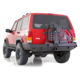 Smittybilt® - XRC Full Width Rear HD Bumper with Hitch And Tire Carrier