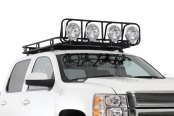 Image may not reflect your exact vehicle! Smittybilt® - 4' x 5' Defender Black Rack Basket