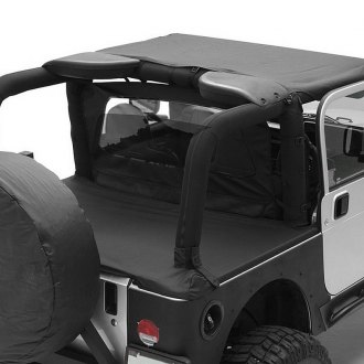 Image may not reflect your exact vehicle! Smittybilt® - Outback Standard Black Bikini Top on Jeep Wrangler 2009
