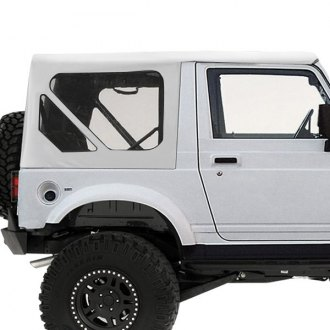 Smittybilt® - Vinyl White OEM Replacement Soft Top with Zip Out Windows