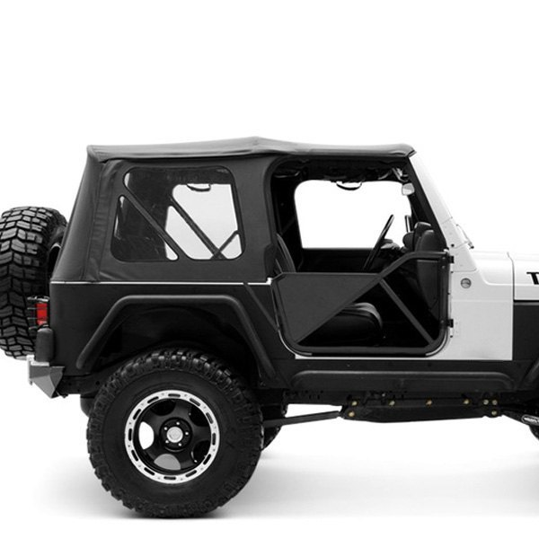 Captivating Smittybilt®   Black Diamond OEM Replacement Soft Top With Tinted Windows