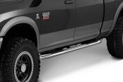 "Image may not reflect your exact vehicle! Smittybilt® - 3"" Polished Round Sure Steps Installed"