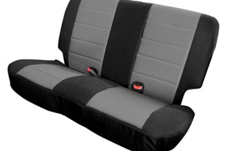 Smittybilt® 46922 - Neoprene Rear Seat Covers with Black Sides / Charcoal Center