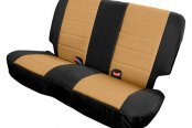 Smittybilt® - Neoprene Rear Seat Covers with Black Sides / Tan Center
