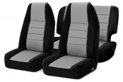 Smittybilt® - Neoprene Black Sides / Charcoal Center Seat Covers