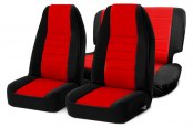 Smittybilt® - Neoprene Black Sides / Red Center Seat Covers