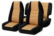 Smittybilt® - Neoprene Black Sides / Tan Center Seat Covers