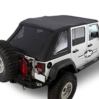 Smittybilt® - OEM Replacement Diamond Black Bowless Soft Top Combo with Tinted Windows