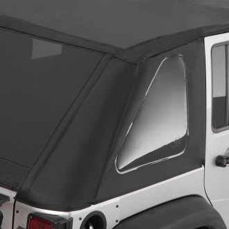 Smittybilt® - Diamond Black OEM Replacement Bowless Soft Top Combo with Tinted Windows
