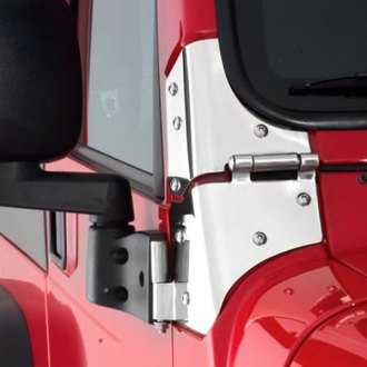 Smittybilt® - Polished Windshield Hinges