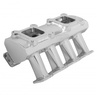 Sniper® - Hi-Ram Dual Quad Sheet Metal Carbureted Fabricated Single Plane Intake Manifold