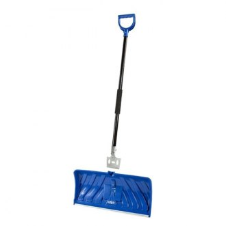 "Snow Joe® - Edge 2-In-1 24"" Poly Blade Snow Pusher and Ice Chopper, Blue"