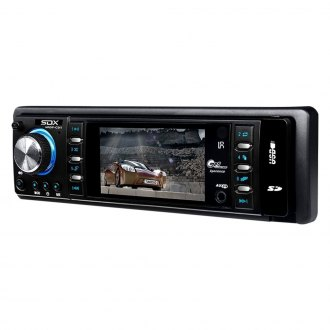 "Sondpex® - Single DIN FM/MP3/WMA/FLAC/AAC/MP4/AVI Digital Media Receiver with 3"" Display"