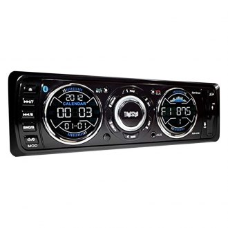 Sondpex® - Single DIN FM/MP3 Tunes2Go™ Mechless Radio Receiver with Detachable Panel and Built-In Bluetooth