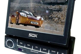 "Sondpex® - Single DIN Mechless Multimedia Receiver with 7"" TFT Flip-Out Touch Screen"