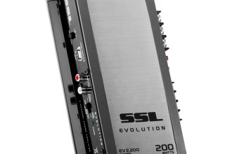 Sound Storm Lab® - Evolution Series Class AB 2-Channel 200W Amplifier with Remote Subwoofer Control, White