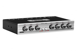 Sound Storm Lab® - 4-Band Graphic Equalizer with Subwoofer Crossover (125Hz, 500Hz, 3.5kHz, 12kHz Adjustable EQ Bands)